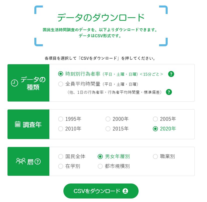 データのダウンロード|NHK放送文化研究所